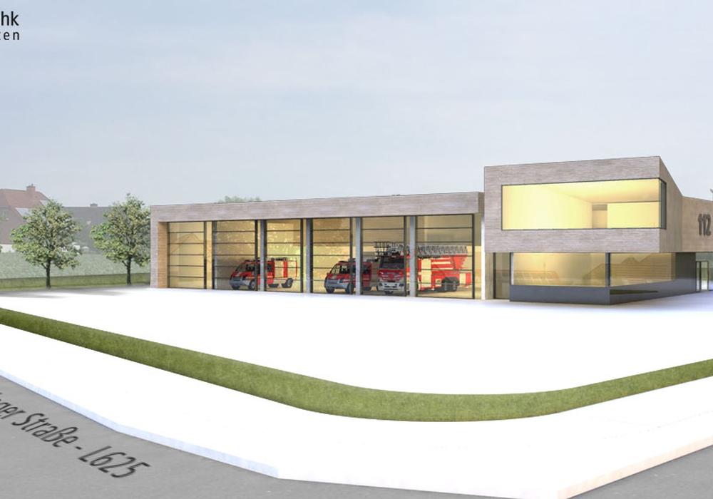 So könnte das neue Feuerwehrgerätehaus aussehen. Foto: struhk architekten Planungsgesellschaft mbH