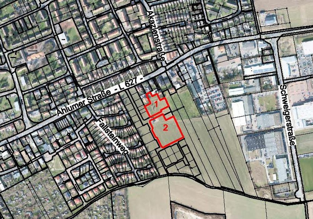 Hier befinden sich die Baugebiete. Foto: Stadt Wolfenbüttel