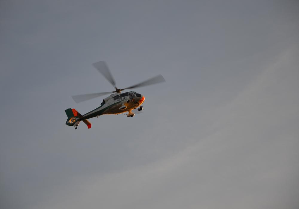 Hubschrauber über Gifhorn im Einsatz für den OSZE-Gipfel in Hamburg Symbolbild: Tobias Breske