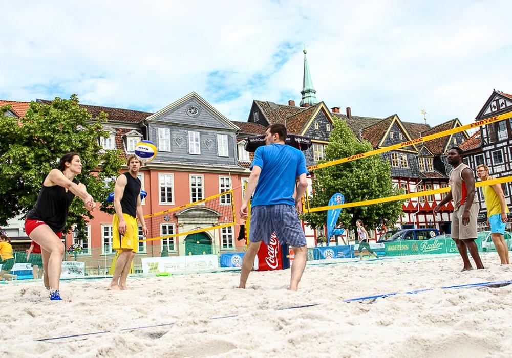 Neuer Austragungsort: vom Stadtmarkt an den Strandwolf. Am heutigen Samstag starten die Wolfenbütteler Beachdays. Foto: Thorsten Raedlein/Archiv