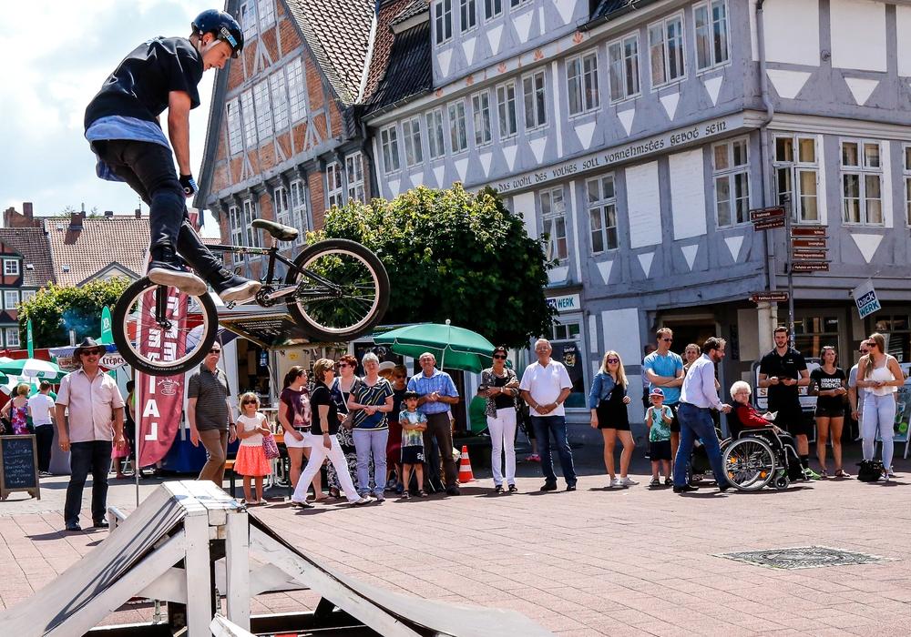 BMX-Show beim Sattelfest. Fotos: Stadt Wolfenbüttel