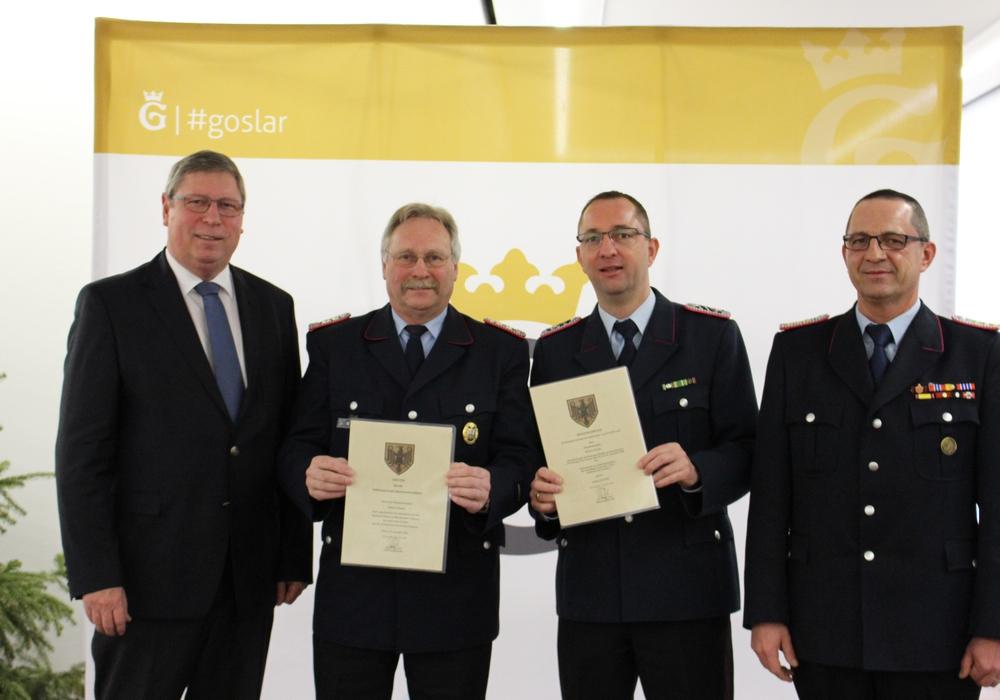 Blicken zuversichtlich auf 2017: Stadtrat Burkhard Siebert (von links), Wilfried Höpfner, Rouwen Brunke und Christian Hellmeier. Foto: Frederick Becker