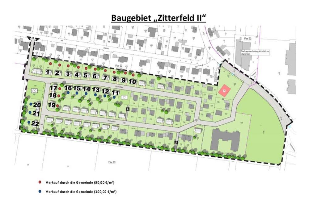So soll das neue Baugebiet aussehen. Plan: Gemeinde Ilsede