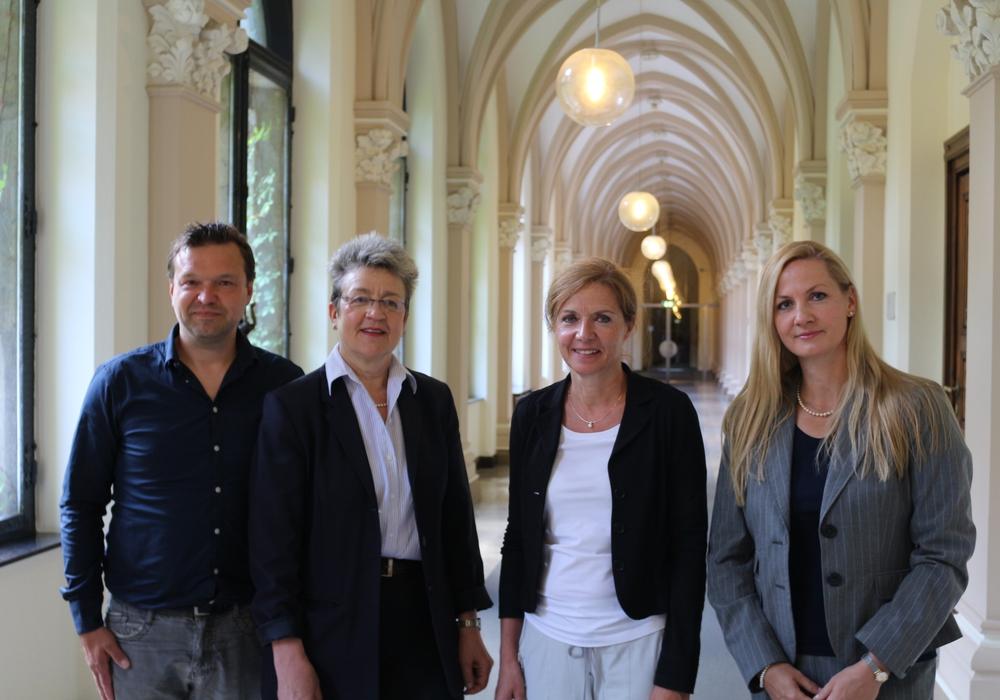 Thomas Seliger, Cordula Müller, Dr. Andrea Hanke und Stefanie Hälig (von links), Foto: Robert Braumann
