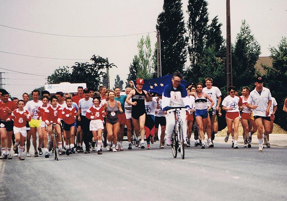 """Zum 60-jährigen Jubiläum der Städtepartnerschaft von Wolfenbüttel und Sèvres findet die Neuauflage des Laufes """"1.000 Kilometer für Europa"""" statt. Foto: Stadt Wolfenbüttel"""