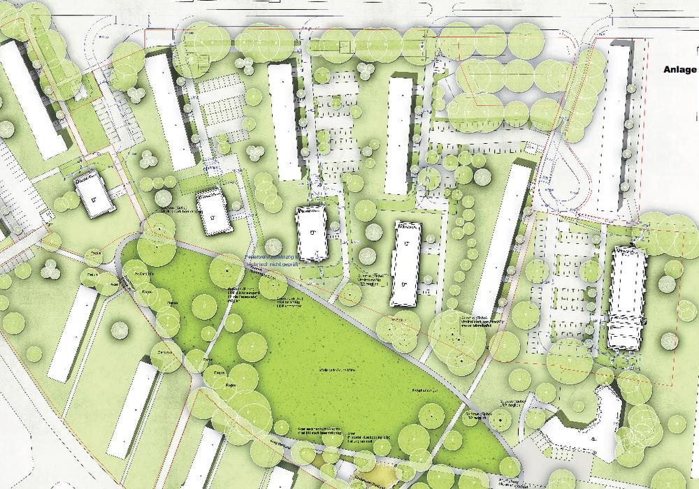 Die Sanierung der Grünanlagen am Wellekamp beschäftigen derzeit Wolfsburgs Ausschüsse. Karte: Stadt Wolfsburg