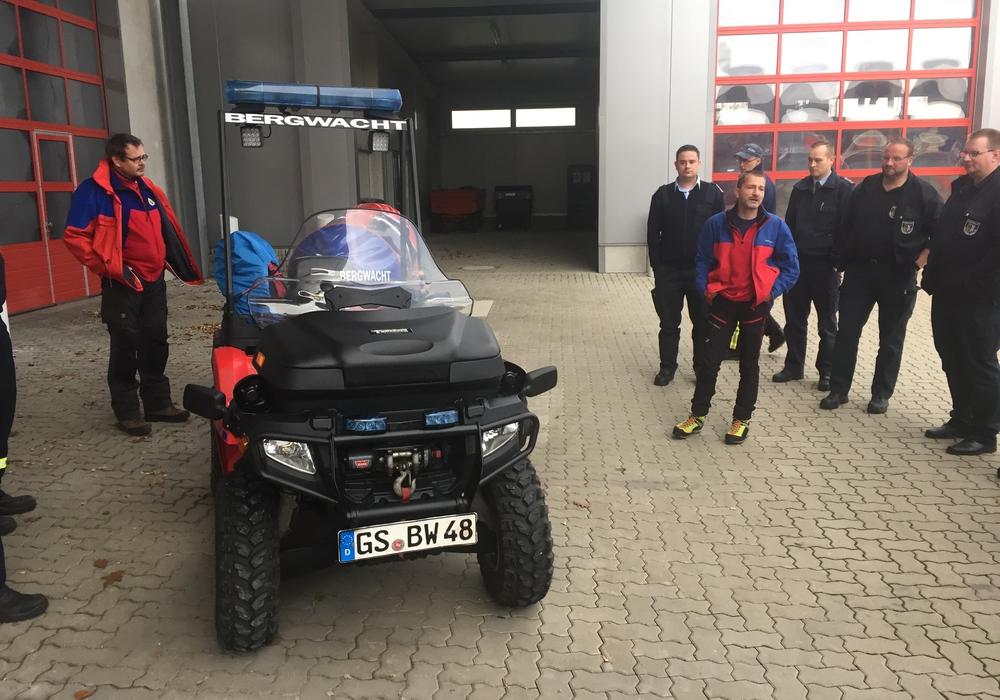 Vorstellung des ATV (All Terrain Vehicle). Fotos: Kreisfeuerwehr Goslar