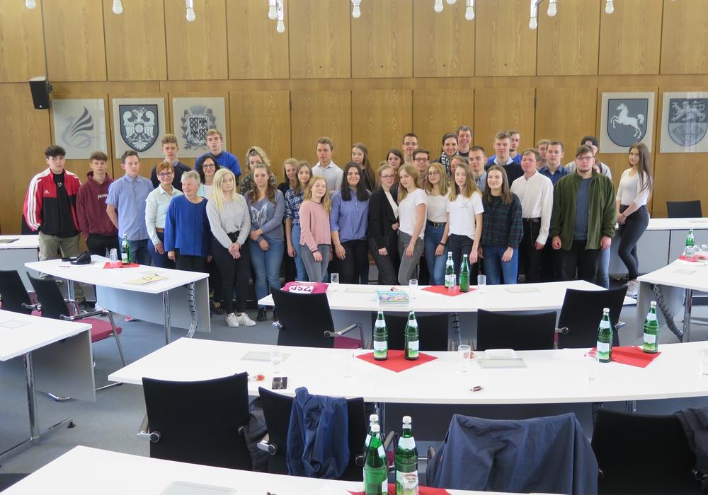 32 polnische und deutsche Schüler zu Besuch im Landkreis. Foto: Landkreis Wolfenbüttel