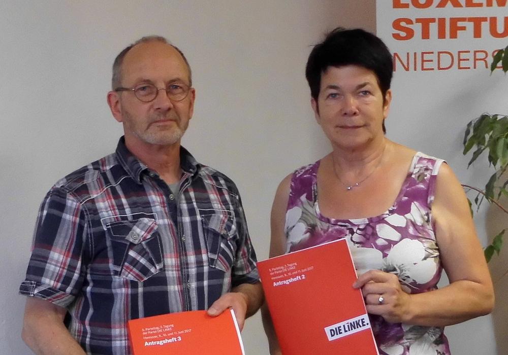 Klaus Brinkmann und Marion Koellner. Foto: Die Linke