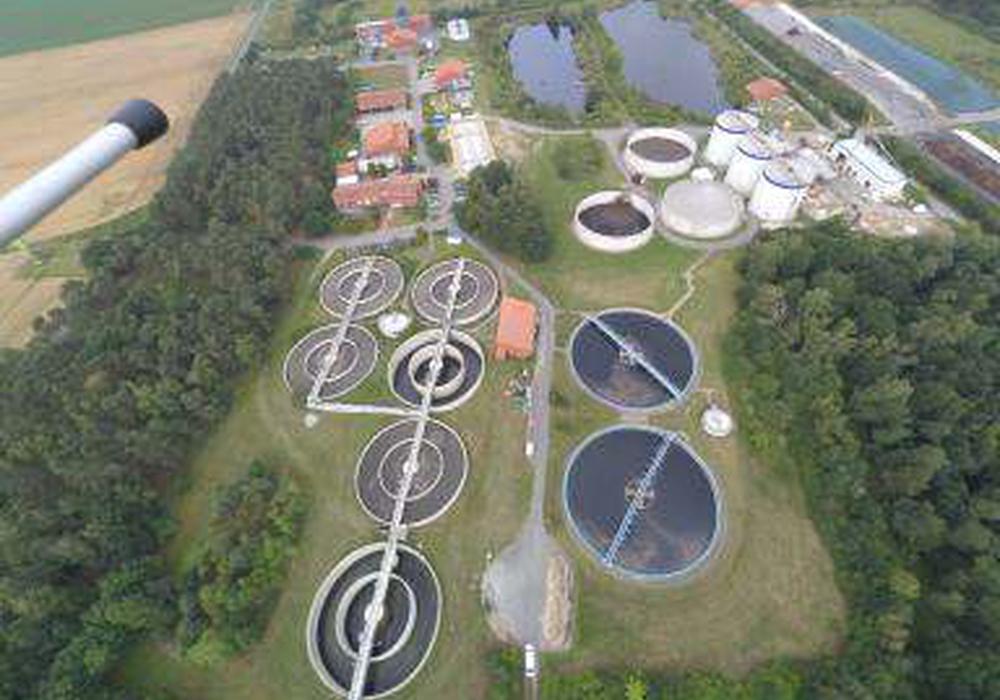 Die Kläranlage Stahlberg in Wolfsburg aus der Luft. Foto: WEB