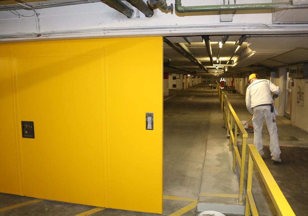 Das zweite Untergeschoss der Tiefgarage Packhof wird noch zwei Wochen, bis zum 29. Oktober, gesperrt bleiben. Foto: Robert Braumann