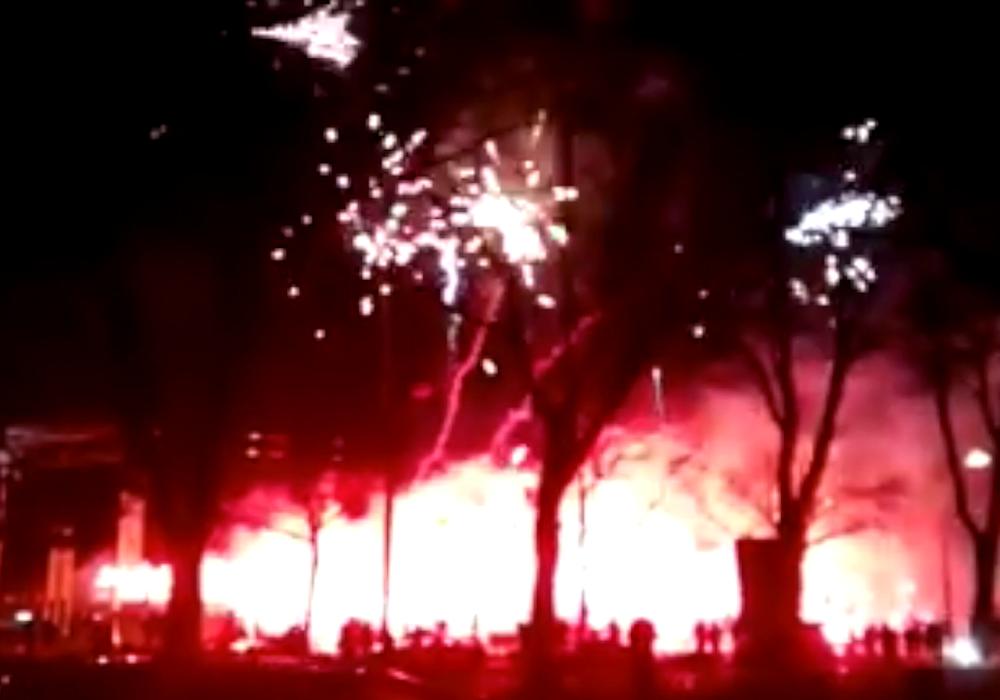 Das Feuerwerk zum 120-jährigen Jubiläum der Eintracht hat wohl ein Nachspiel für einige Fans. Foto: anomym
