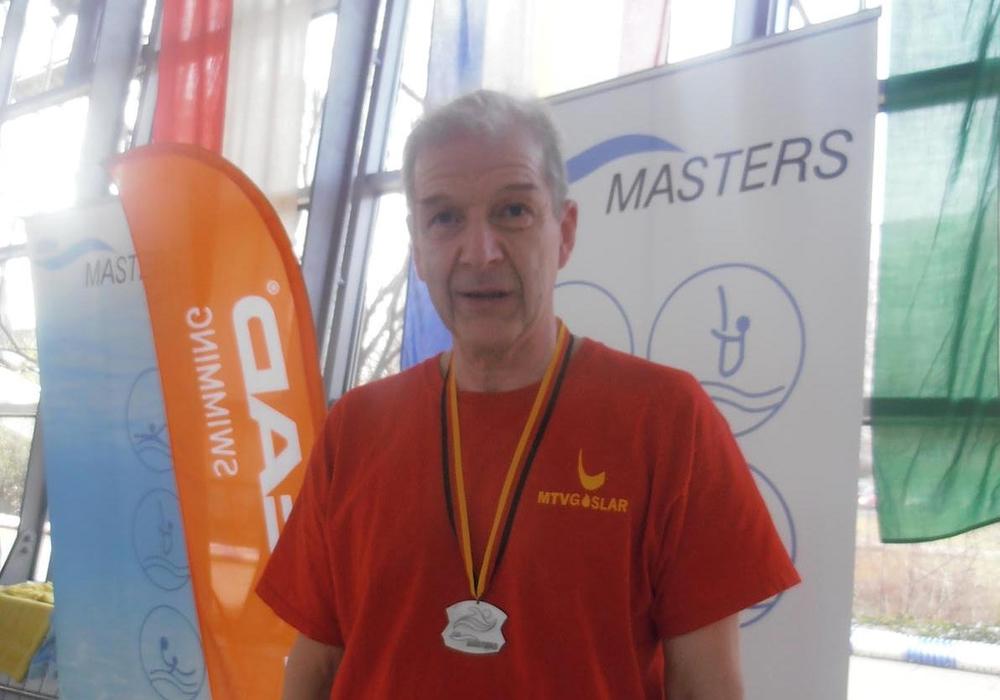 Hans-Jürgen Kaiser wurde in Braunschweig Deutscher Vizemeister über 200 Meter Schmetterling. Foto: Privat