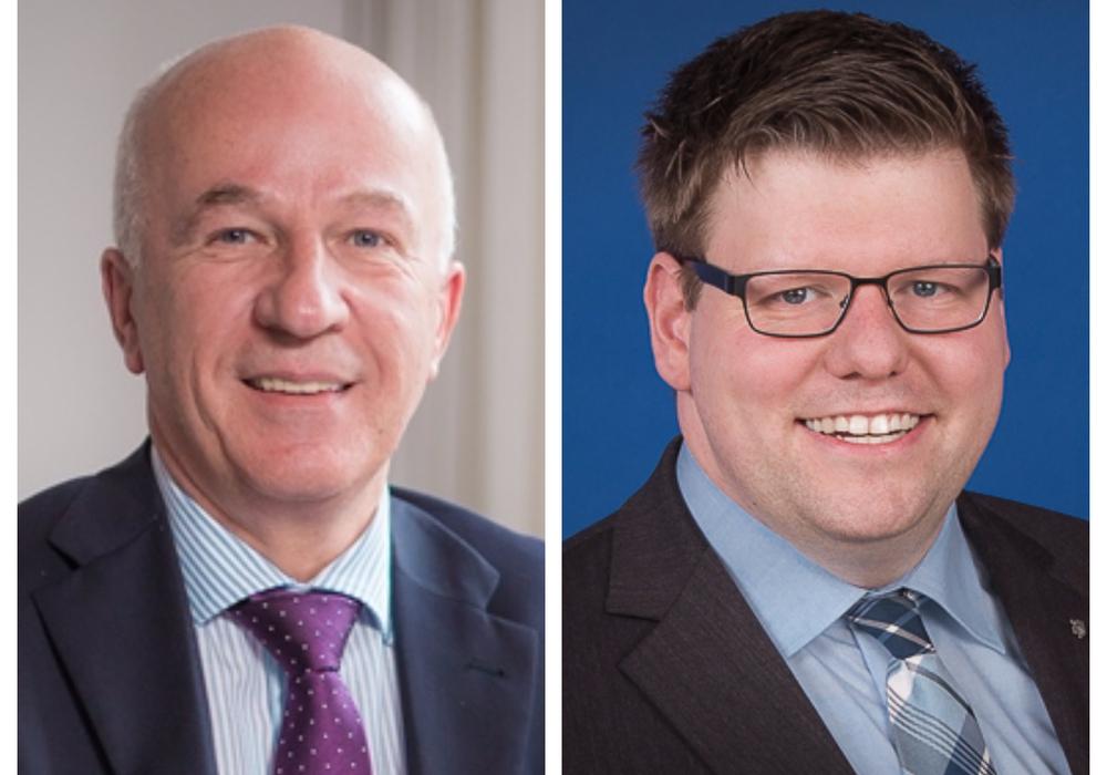 Klaus Wendroth (li.) ist vom Fraktionsvorsitz zurückgetreten. Thorsten Köster ist sein Nachfolger. Fotos: CDU