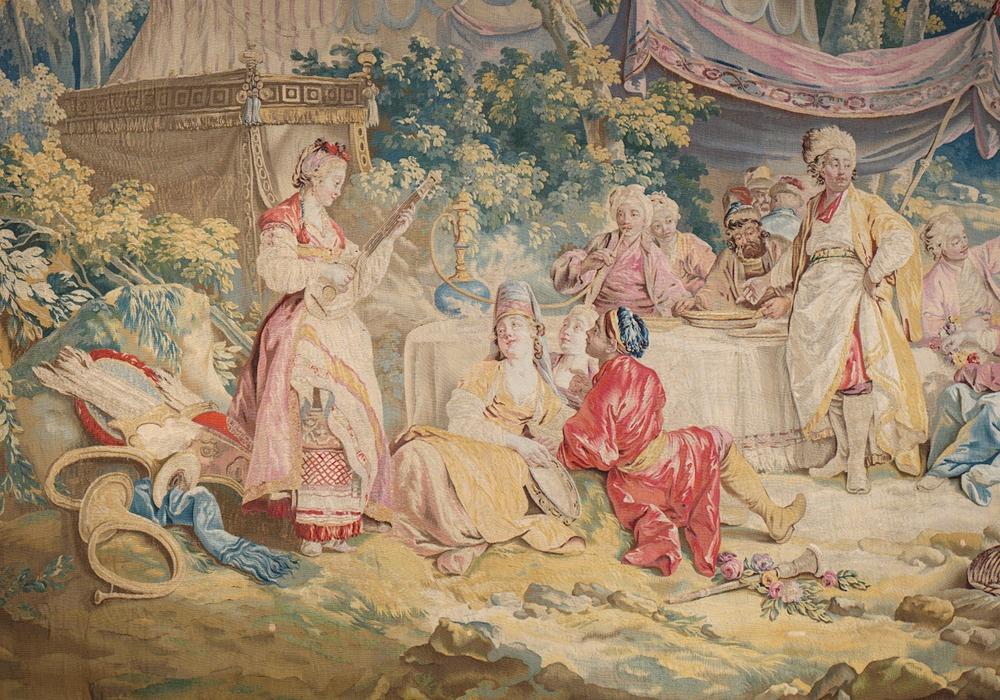 Das Mahl im Zelt 1769-1780. Museum Schloss Wolfenbüttel. Foto Thomas Sing.