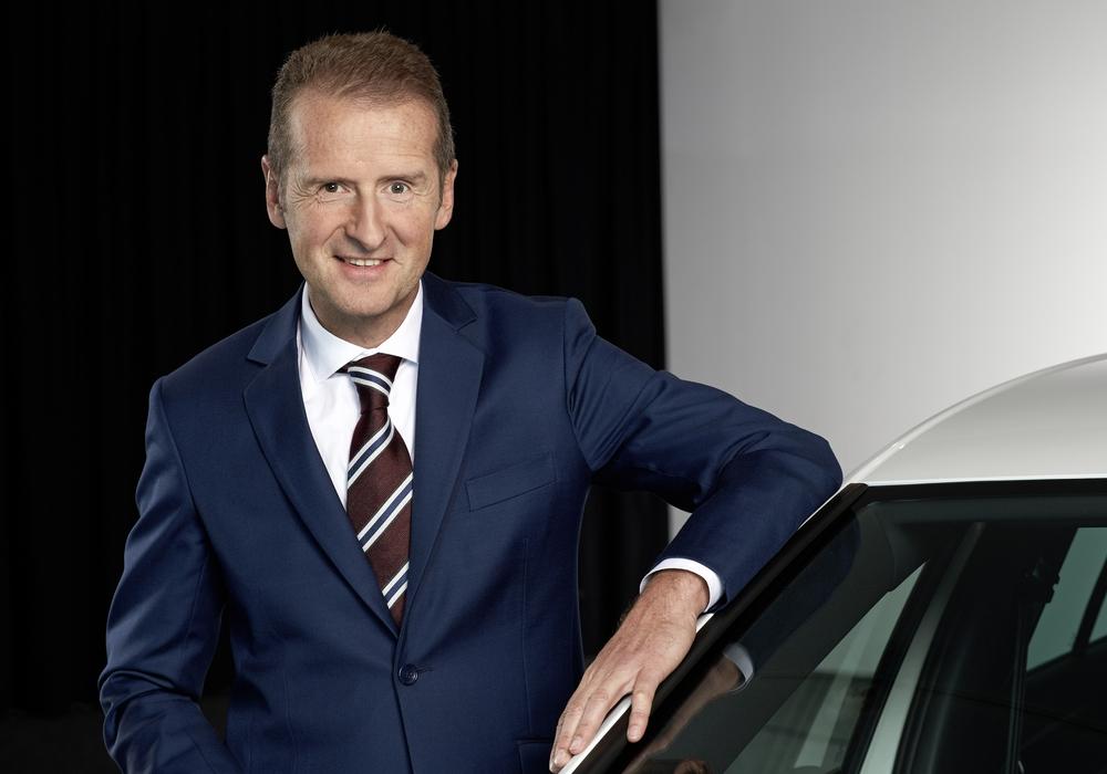 Der neue Vorstandsvorsitzende Dr. Herbert Diess zeigte sich auf der VW-Hauptversammlung kämpferisch. Foto: Volkswagen