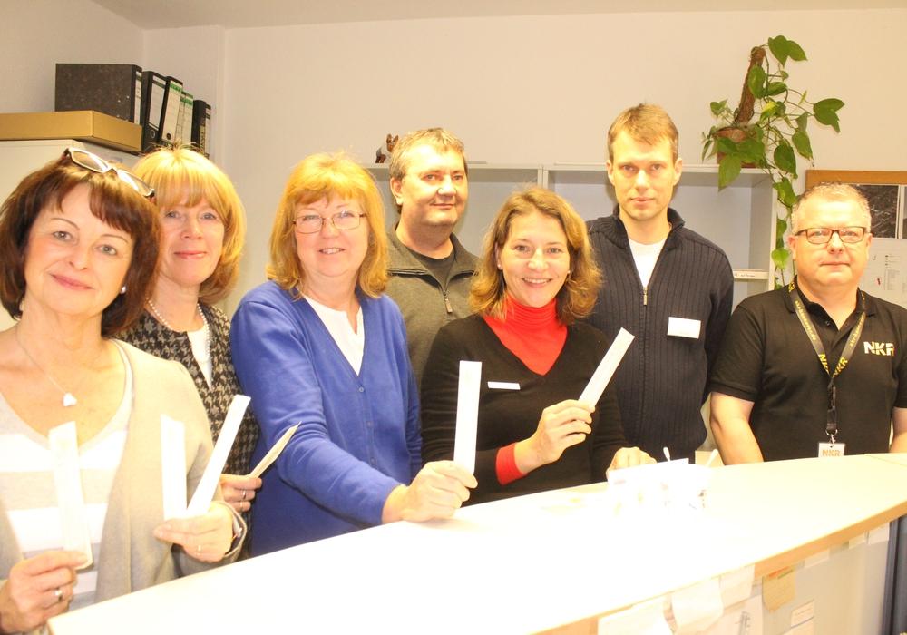 Das Team vom medizinischen Dienst der Zentralen Polizeidirektion Niedersachsen betreute die Typisierungsaktion in Braunschweig. Fotos: Anke Donner