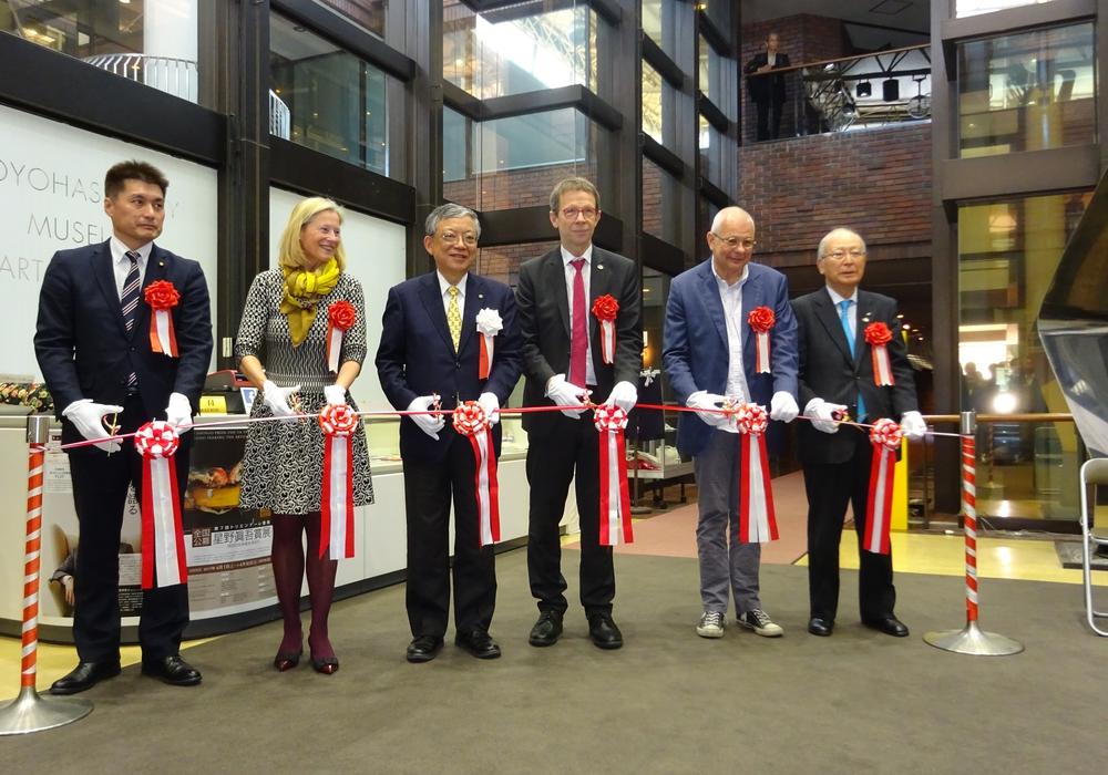 Am Samstag wurde die Ausstellung in Wolfsburg Freundschaftsstadt Toyohashi eröffnet. Foto: Stadt Wolfsburg