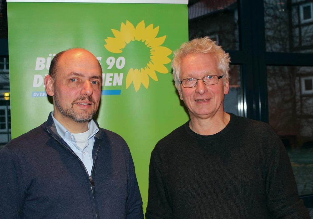 Reinhardt Gerndt und Holger Barkhau von den Grünen. Foto: Privat