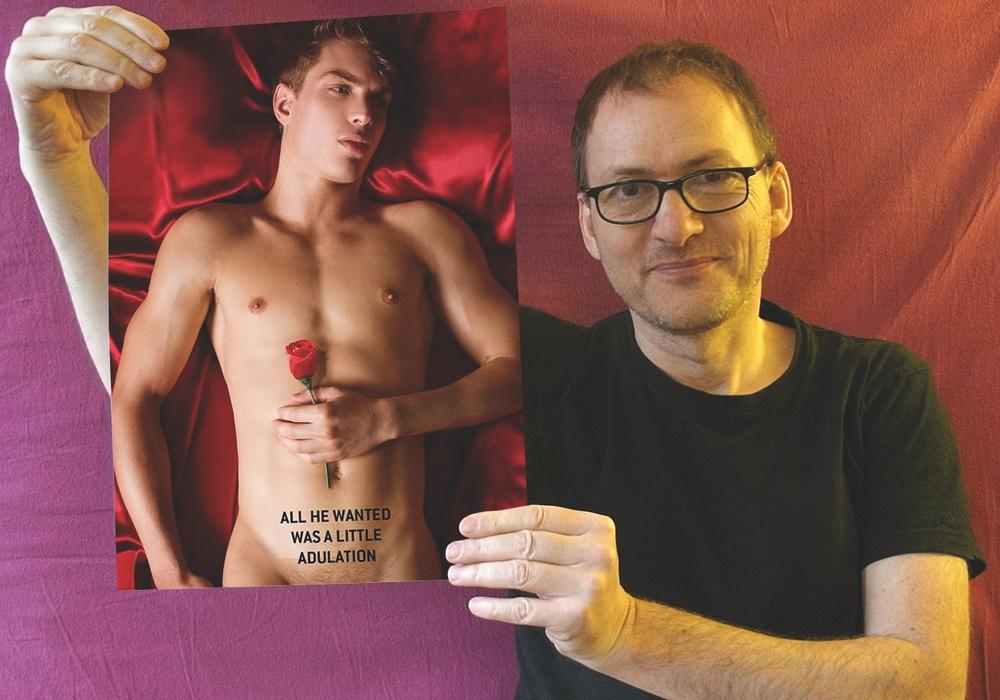 """Erwin In het Panhuis hält den Vortrag zum Thema """"Rosa Winkel, Regenbogen und Rote Rosen"""" Schwule Symbole im Film. Foto: Veranstalter"""