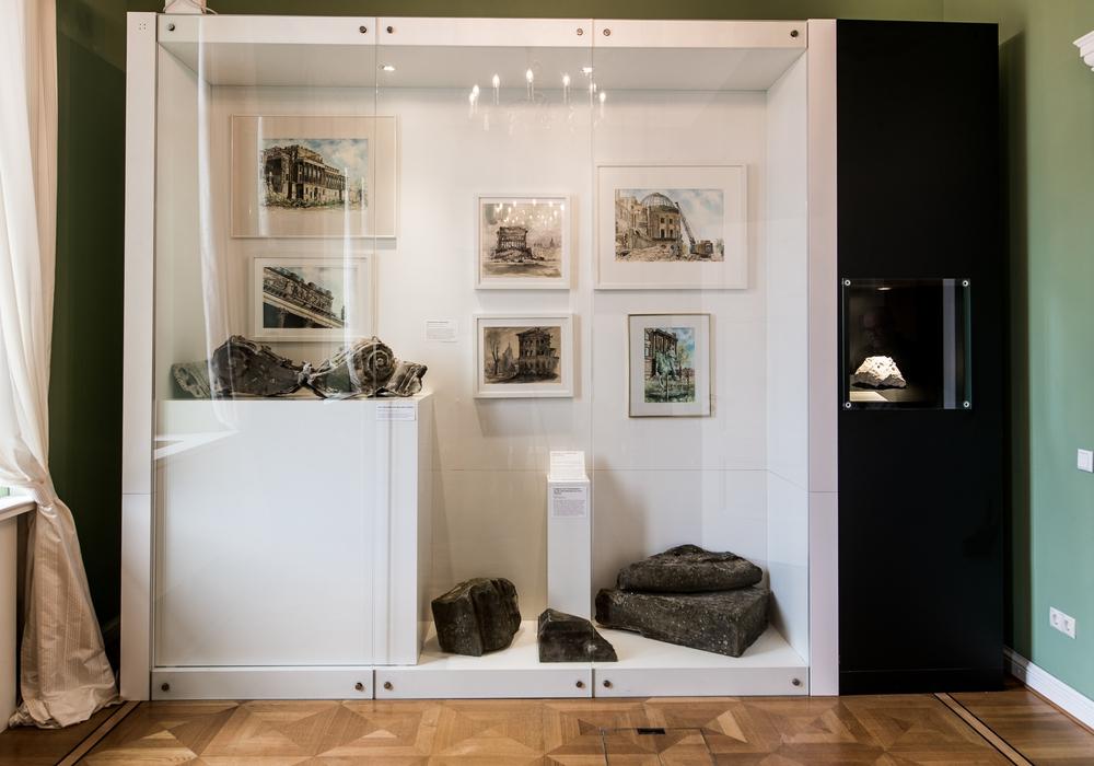 Schloss-Altsteine in der Sonderausstellung des Schlossmuseums.                                Foto: Schlossmuseum/Küstner