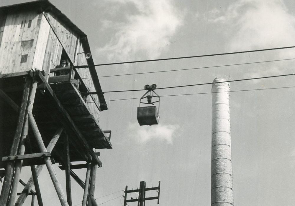 Blick auf die Seilbahn. Foto: Stadtarchiv