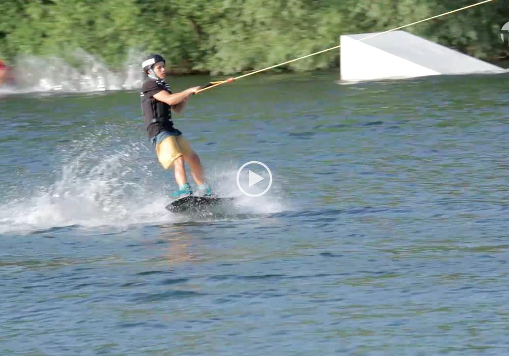 Oliver Ullrich fährt im August zur Wakeboard-EM. Foto/Video: Jens Bartels