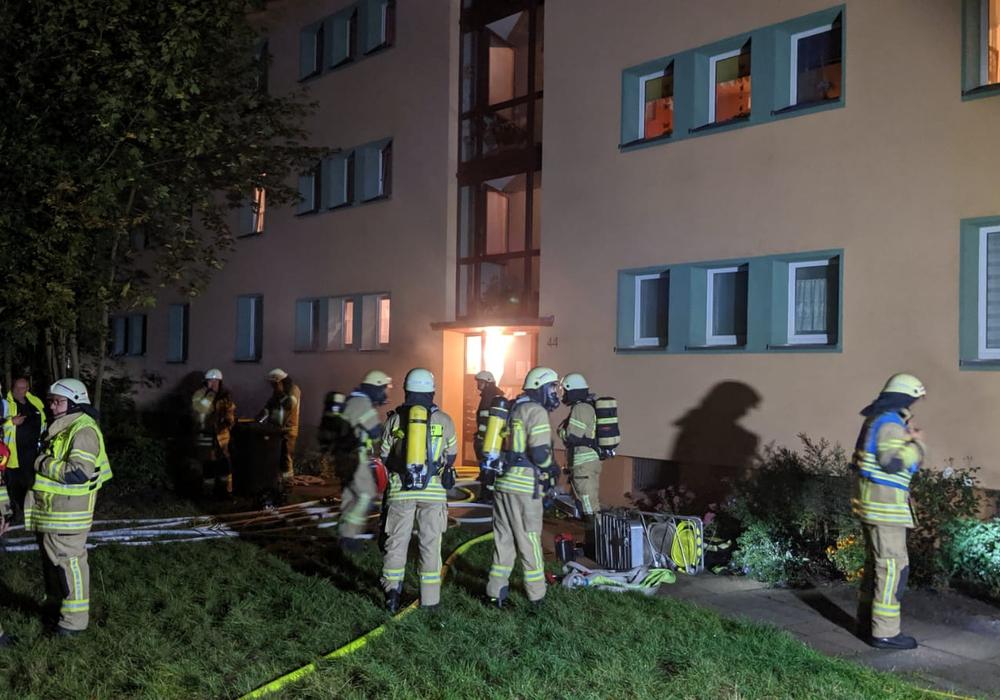 In der Heinrich-Kremp-Straße war das erste Feuer ausgebrochen. Foto: Feuerwehr Helmstedt