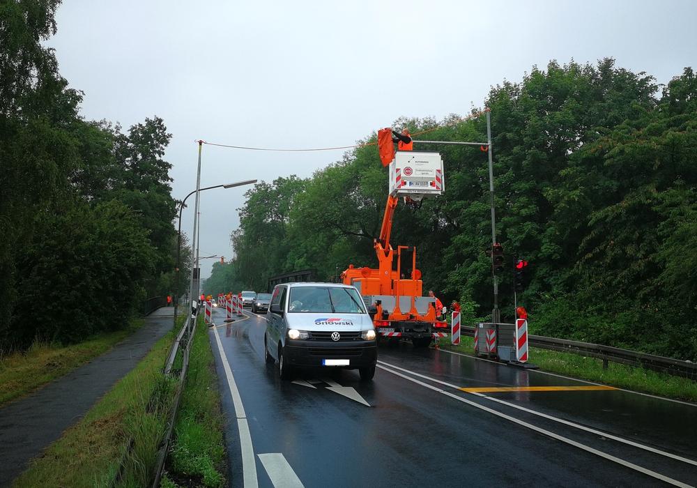 Die Baustellenampel wird durch eine stationäre Signalanlage ersetzt. Foto: Stadt Goslar