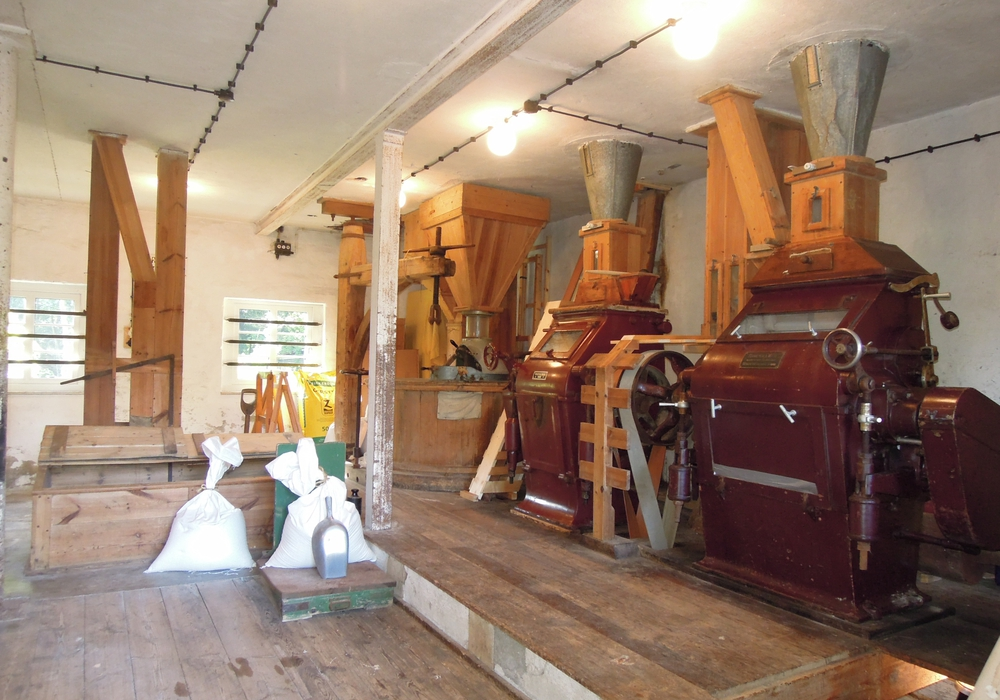 Ein Blick in die alte Mühle. Foto: Motormühle Blumenhagen