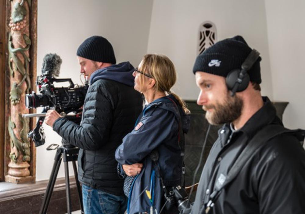 Das NDR-Kamerateam im Siemenshaus in Goslar. Foto: Bernadette Hauke
