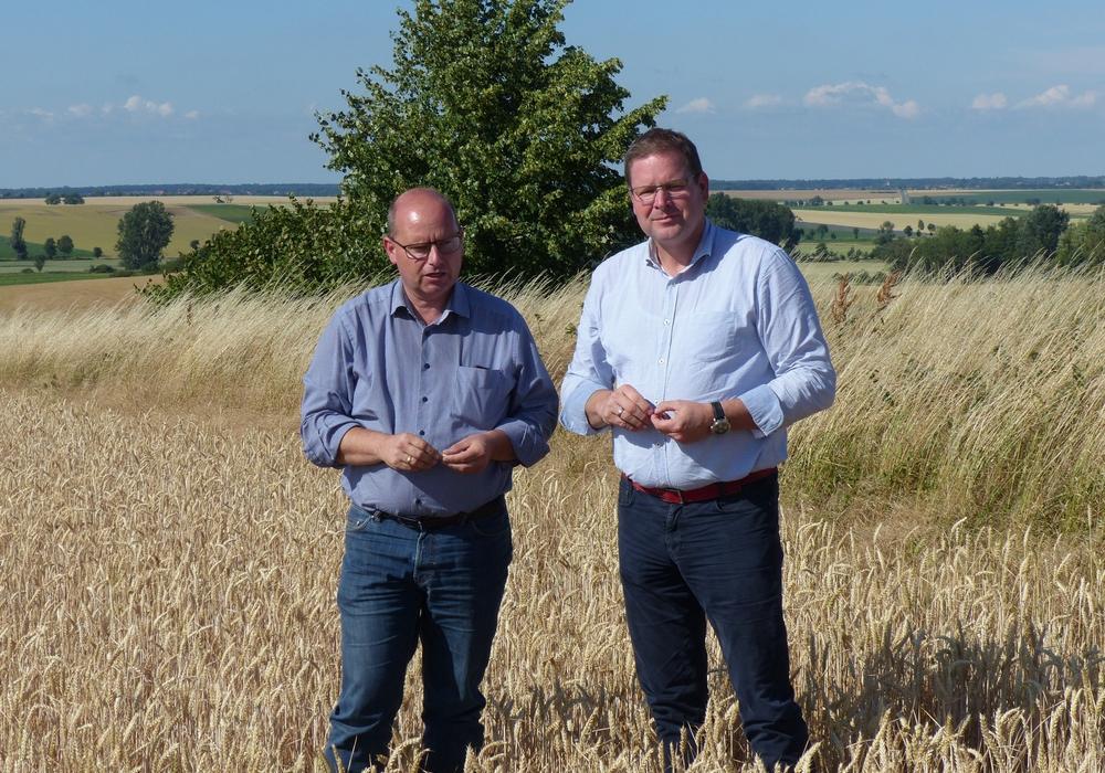 SPD-Landtagsabgeordnete Marcus Bosse (re.) traf sich  mit dem Vorsitzenden des Niedersächsischen Landvolkes Ulrich Löhr zu einem Gespräch. Foto: Wahlkreisbüro Marcus Bosse