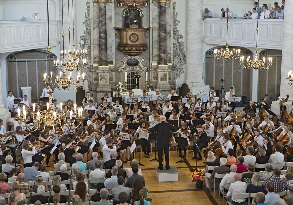 Das Jubiläumskonzert fand in der St. Trinitatis-Kirche statt. Fotos: Große Schule/Ingo Hoffmann