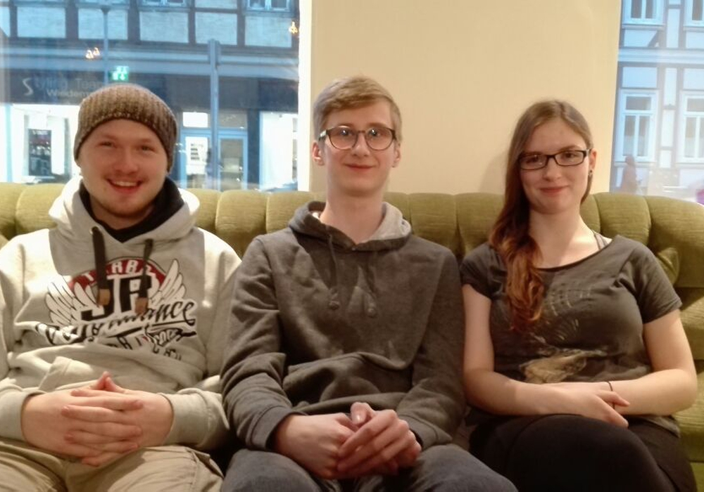 Lauritz Krull, Philipp Bräuer, Antonia Piep (v. li.). Foto: Jugendpflege