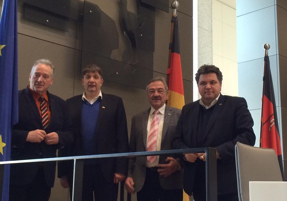 Frank Oesterhelweg, Harm Adam, Bernd Wolf und Uwe Schäfer. Foto: Sabine König