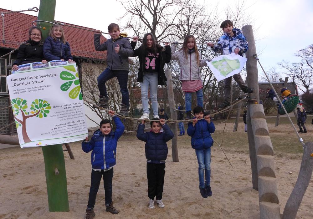 Mit Hilfe der Kinder soll der Spielplatz Danziger Straße besonders gut gelingen. Foto: Stadt Salzgitter