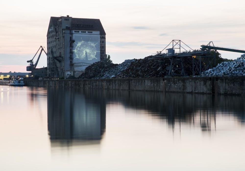 """""""The Portal"""" am Hafen Braunschweig-Veltenhof. Foto: Stadt Braunschweig / Daniela Nielsen"""