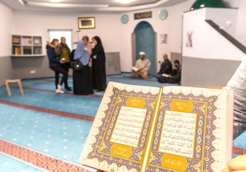 Am Tag der offenen Tür konnten sich Interessierte über den Islam informieren. Fotos: Rudolf Karliczek