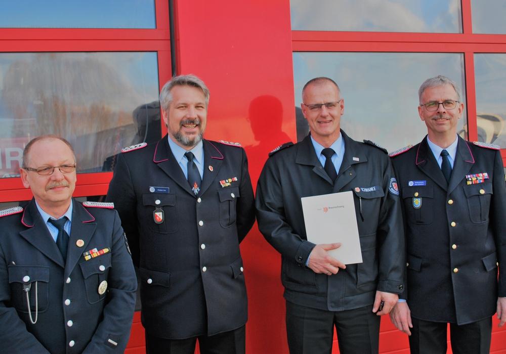 Von links: Karsten Reschke, Christian Lüer, Christoph Schwanke und Ingo Schönbach. Fotos: Feuerwehr Braunschweig