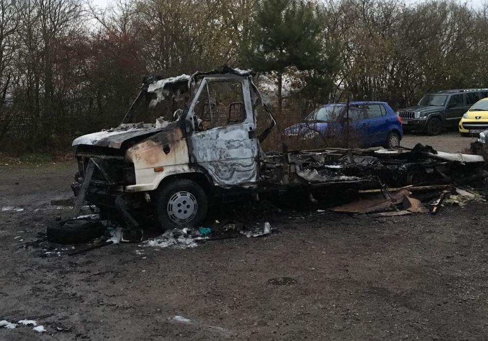 Das Wohnmobil war nicht mehr das jüngste, der Schaden ist mit 1000 Euro relativ gering. Foto: Polizei
