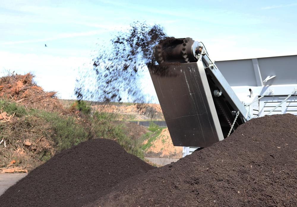 Kompostverarbeitung bei der ALBA Group.  Foto: ALBA Group