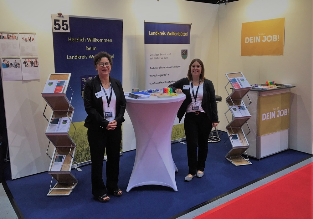Das Team des Landkreises Wolfenbüttel informiert und berät zu Ausbildung und Studium. Foto: Landkreis Wolfenbüttel