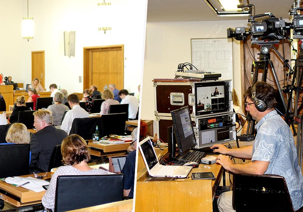 Bislang wurden die Ratssitzungen lediglich als Livestream übertragen. Fotos: André Ehlers