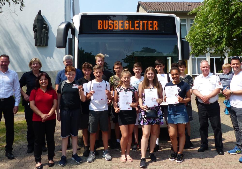 Busbegleiter der Eichendorffschule. Foto: Polizei