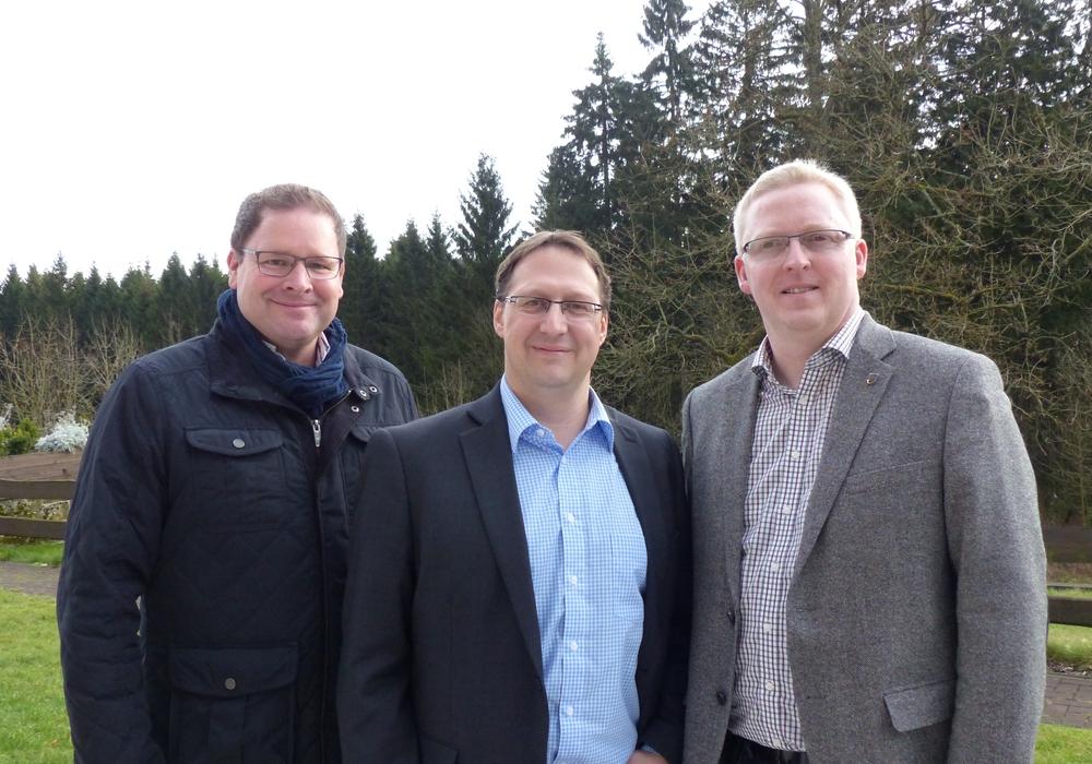 Die SPD-Kreistagsfraktion (von links): umweltpolitischer Sprecher Marcus Bosse, Bürgermitglied Stephan Grenz sowie Fraktionsvorsitzender Falk Hensel. Foto: Privat