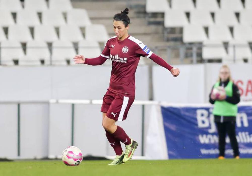 Der VfL Wolfsburg hat für die kommenden Saison Sara Doorsoun von der SGS Essen verpflichtet. Foto: Imago/Markus Endberg