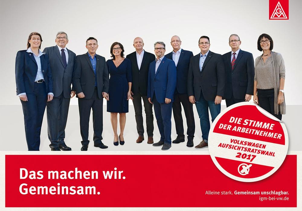 Einige der Kandidaten zum Aufsichtsrat. Foto: IG Metall