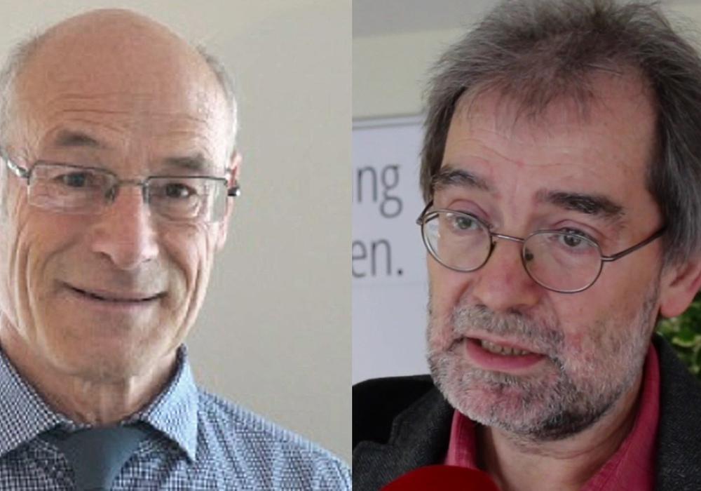Die Bürgerliste geht mit AfD ins Gericht. Dr. Tyge Claussen (AfD) und Henning Wehrmann (Bürgerliste). Foto: Alec Pein; Henning Wehrmann