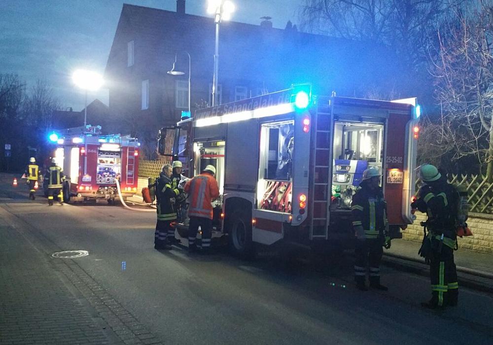 Die Feuerwehr Gardessen musste zu einer Übung ausrücken. Fotos: Matthias Franz