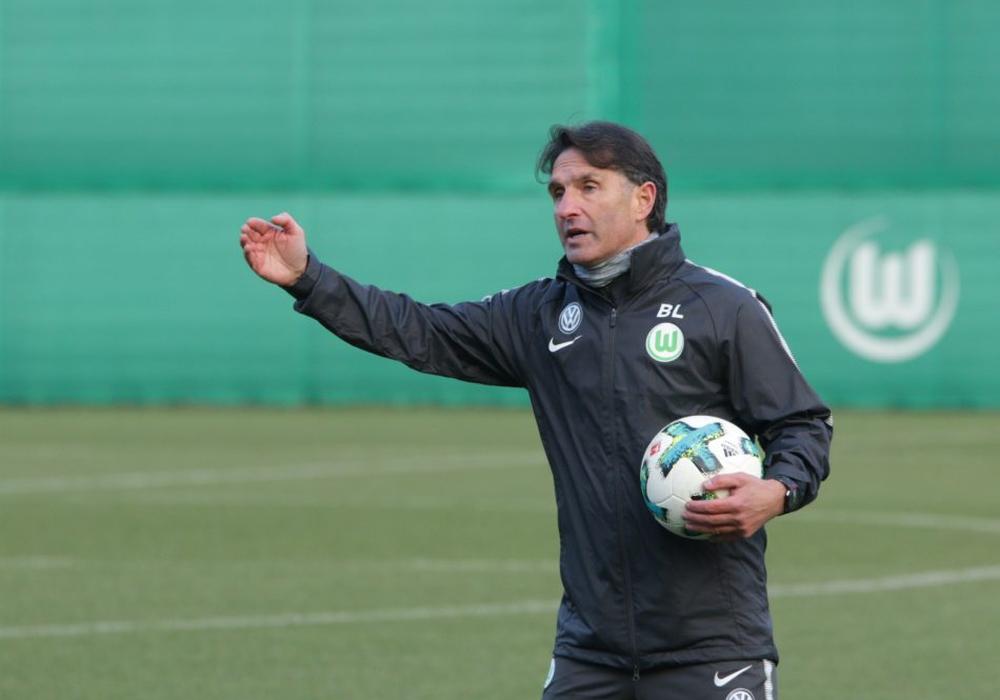 Bruno Labbadia leitete gestern Nachmittag bereits seine erste Trainingseinheit in Wolfsburg. Foto: Jens Bartels